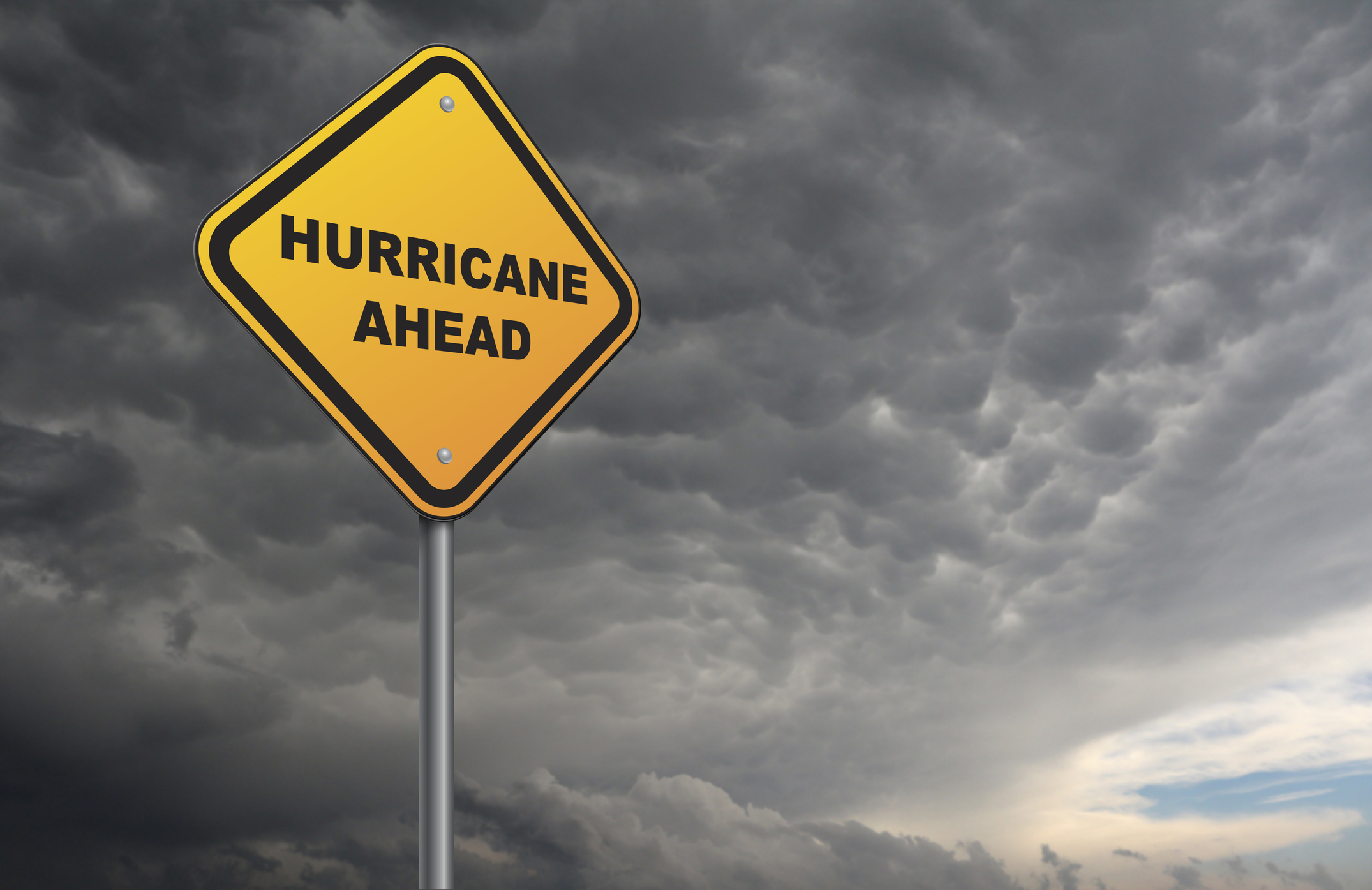 image of hurricane sign